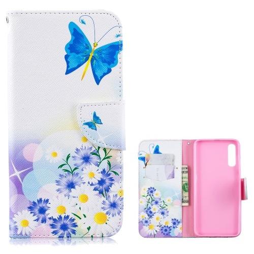 Θήκη Samsung Galaxy A50 OEM σχέδιο Blue Butterflies με βάση στήριξης