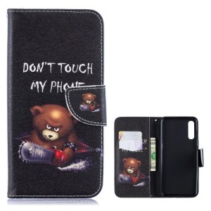 Θήκη Samsung Galaxy A50 OEM σχέδιο Angry bear with chainsaw με βάση στήριξης