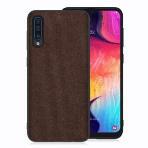 Θήκη Samsung Galaxy A50 OEM Cloth Texture Series Πλάτη TPU καφέ