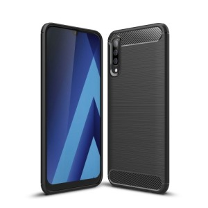 Θήκη Samsung Galaxy A50 OEM Brushed TPU Carbon Πλάτη μαύρο