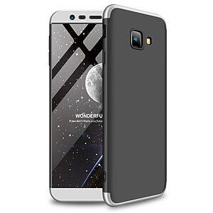 Θήκη Samsung Galaxy J4 Plus GKK Full body Protection 360° από σκληρό πλαστικό μαύρο / ασημί