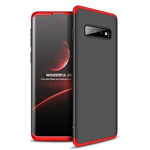 Θήκη Samsung Galaxy S10 GKK Full body Protection 360° από σκληρό πλαστικό μαύρο / κόκκινο
