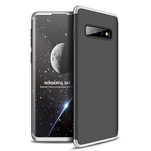 Θήκη Samsung Galaxy S10 GKK Full body Protection 360° από σκληρό πλαστικό μαύρο / ασημί