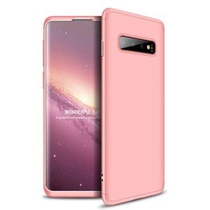 Θήκη Samsung Galaxy S10 GKK Full body Protection 360° από σκληρό πλαστικό ροζ χρυσό
