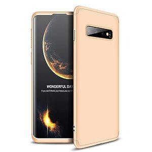 Θήκη Samsung Galaxy S10 GKK Full body Protection 360° από σκληρό πλαστικό χρυσό