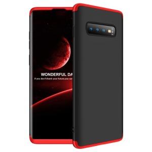 Θήκη Samsung Galaxy S10 Plus GKK Full body Protection 360° από σκληρό πλαστικό μαύρο / κόκκινο