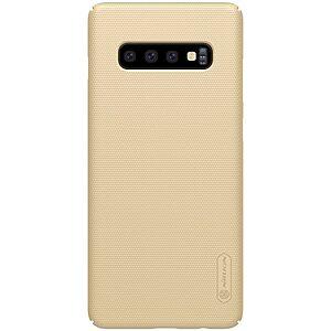 Θήκη Samsung Galaxy S10 Plus NiLLkin Super Frosted Shield Series Πλάτη από σκληρό πλαστικό χρυσό