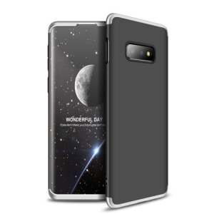 Θήκη Samsung Galaxy S10e GKK Full body Protection 360° από σκληρό πλαστικό μαύρο / ασημί