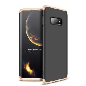 Θήκη Samsung Galaxy S10e GKK Full body Protection 360° από σκληρό πλαστικό μαύρο / χρυσό
