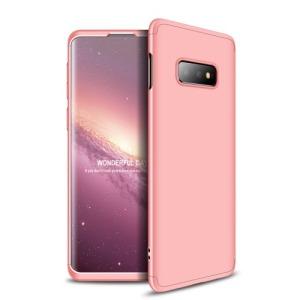 Θήκη Samsung Galaxy S10e GKK Full body Protection 360° από σκληρό πλαστικό ροζ χρυσό