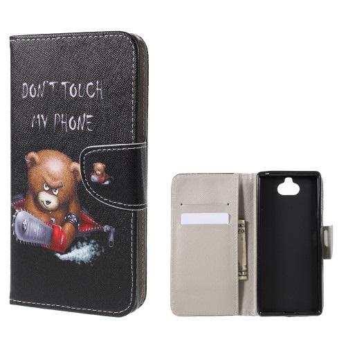 Θήκη Sony Xperia 10 OEM σχέδιο Angry bear with chainsaw με βάση στήριξης