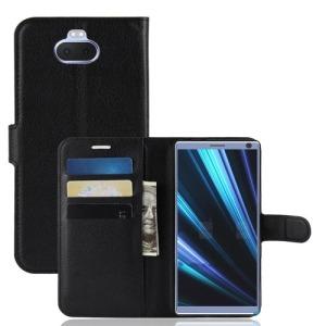 Θήκη Sony Xperia 10 OEM Litchi Skin PU Leather με βάση στήριξης