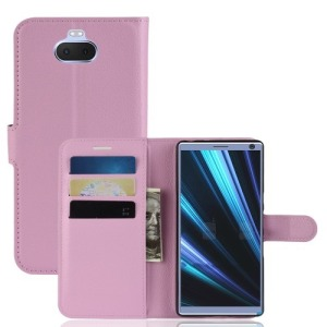 Θήκη Sony Xperia 10 Plus OEM Litchi Grain PU Leather με βάση στήριξης
