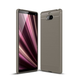 Θήκη Sony Xperia 10 Plus OEM Brushed TPU Carbon Πλάτη γκρι