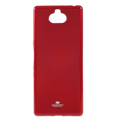 Θήκη Sony Xperia 10 Plus Mercury Goospery Jelly Glitter Πλάτη TPU κόκκινο