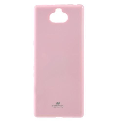 Θήκη Sony Xperia 10 Plus Mercury Goospery Jelly Glitter Πλάτη TPU ροζ