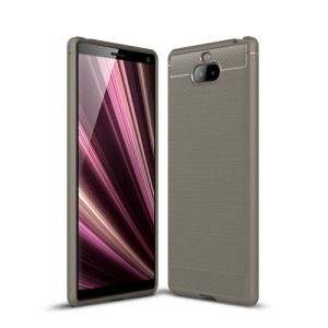 Θήκη Sony Xperia 10 OEM Brushed TPU Carbon Πλάτη γκρι