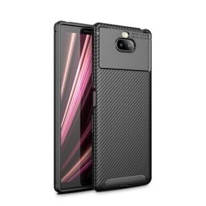 Θήκη Sony Xperia 10 OEM Airbag Carbon Series Πλάτη TPU μαύρο