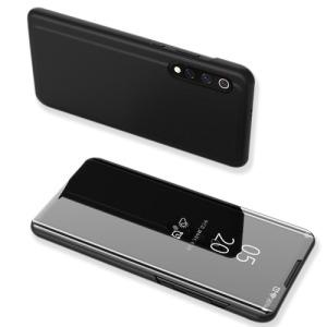 Θήκη Xiaomi Mi 9 OEM Mirror Surface View Stand Case Cover Flip Window από δερματίνη & πλαστικό μαύρο