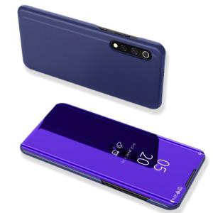 Θήκη Xiaomi Mi 9 OEM Mirror Surface View Stand Case Cover Flip Window από δερματίνη & πλαστικό μπλε / μωβ