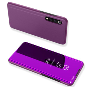 Θήκη Xiaomi Mi 9 OEM Mirror Surface View Stand Case Cover Flip Window από δερματίνη & πλαστικό μωβ