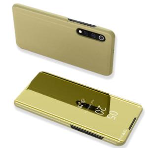 Θήκη Xiaomi Mi 9 OEM Mirror Surface View Stand Case Cover Flip Window από δερματίνη & πλαστικό χρυσό