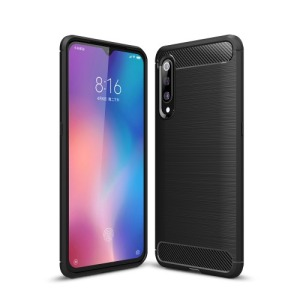 Θήκη Xiaomi Mi 9 OEM Brushed TPU Carbon Πλάτη μαύρο