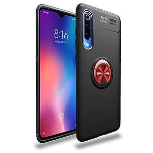 Θήκη Xiaomi Mi 9 OEM Magnetic Ring Kickstand / Μαγνητικό δαχτυλίδι / Βάση στήριξης Πλάτη TPU μάυρο / κόκκινο