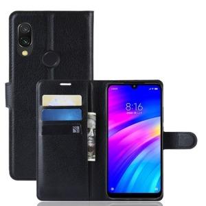 Θήκη Xiaomi Redmi 7 OEM Litchi Texture Leather με βάση στήριξης