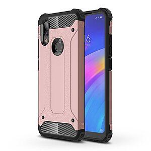 Θήκη Xiaomi Redmi 7 OEM Armor Guard Hybrid Πλάτη από σκληρό πλαστικό και TPU ροζ χρυσό