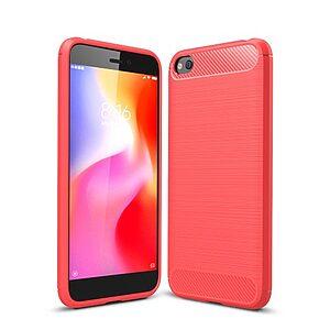 Θήκη Xiaomi Redmi Go OEM Brushed TPU Carbon Πλάτη κόκκινο ανοιχτό