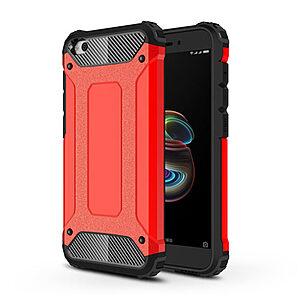 Θήκη Xiaomi Redmi Go OEM Armor Guard Hybrid από σκληρό πλαστικό και TPU Πλάτη κόκκινο