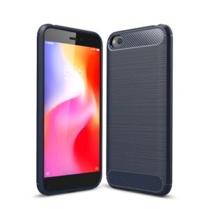 Θήκη Xiaomi Redmi Go OEM Brushed TPU Carbon Πλάτη μπλε