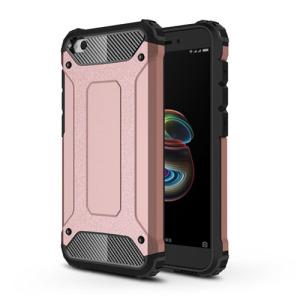 Θήκη Xiaomi Redmi Go OEM Armor Guard Hybrid από σκληρό πλαστικό και TPU Πλάτη ροζ χρυσό