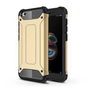 Θήκη Xiaomi Redmi Go OEM Armor Guard Hybrid από σκληρό πλαστικό και TPU Πλάτη χρυσό