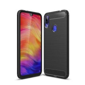 Θήκη XIAOMI Redmi Note 7 OEM Brushed TPU Carbon Πλάτη μαύρο