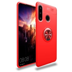 Θήκη Huawei P30 Lite OEM Magnetic Ring Kickstand / Μαγνητικό δαχτυλίδι / Βάση στήριξης πλάτη TPU κόκκινο