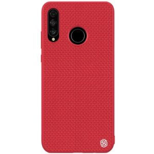 Θήκη Huawei P30 Lite NiLLkin Textured Hard Case Series πλάτη TPU κόκκινο