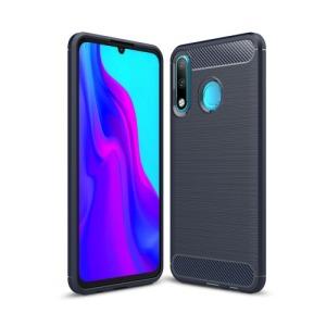 Θήκη Huawei P30 Lite OEM Brushed TPU Carbon πλάτη μπλε σκούρο
