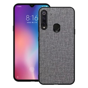 Θήκη Huawei P30 Lite OEM Cloth Texture πλάτη υφασμάτινη γκρι
