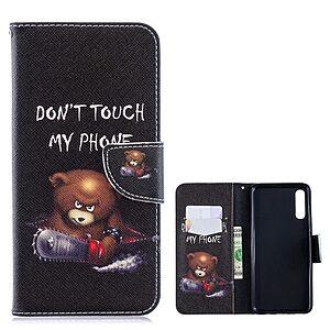 Θήκη Samsung Galaxy A70 OEM σχέδιο Angry bear with chainsaw με βάση στήριξης