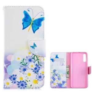 Θήκη Samsung Galaxy A70 OEM σχέδιο Blue Butterflies με βάση στήριξης