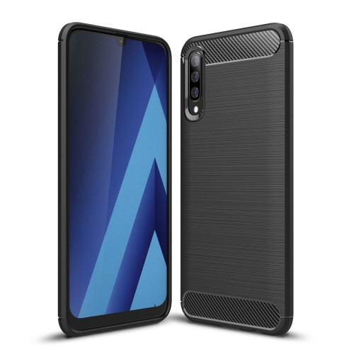 Θήκη Samsung Galaxy A70 OEM Brushed TPU Carbon πλάτη μαύρο
