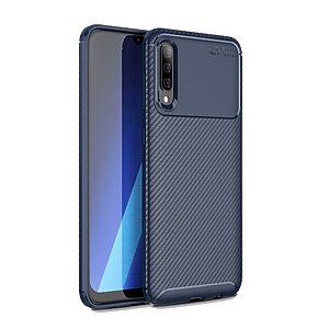 Θήκη Samsung Galaxy A70 OEM Beetle Series Carbon Fiber πλάτη TPU μπλε