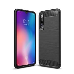 Θήκη Xiaomi Mi 9 SE OEM Brushed TPU Carbon πλάτη μαύρο