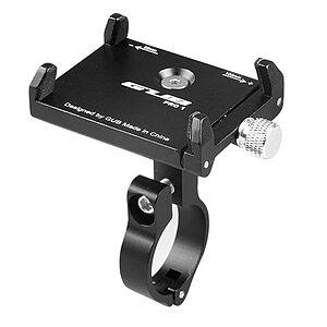 Ρυθμιζόμενη Βάση αλουμινίου AT759 GUB PRO 1 κινητού τηλεφώνου 50-100mm για ηλεκτρικό σκούτερ ή ποδήλατο ή μηχανή μάυρη