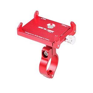 Ρυθμιζόμενη Βάση αλουμινίου AT759 GUB PRO 1 κινητού τηλεφώνου 50-100mm για ηλεκτρικό σκούτερ ή ποδήλατο ή μηχανή κόκκινη