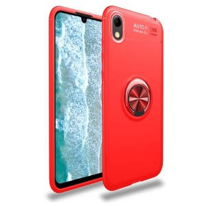 Θήκη Huawei Y5 (2019) OEM Magnetic Ring Kickstand / Μαγνητικό δαχτυλίδι / Βάση στήριξης Πλάτη TPU κόκκινο