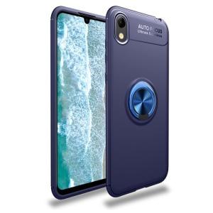 Θήκη Huawei Y5 (2019) OEM Magnetic Ring Kickstand / Μαγνητικό δαχτυλίδι / Βάση στήριξης Πλάτη TPU μπλε