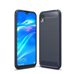 Θήκη Huawei Y5 (2019) OEM Brushed TPU Carbon Πλάτη TPU μπλε